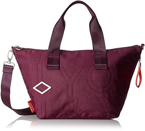 Oilily Damen Spell Handbag Mhz Henkeltasche, Rot (Burgundy), 18x24x45 cm