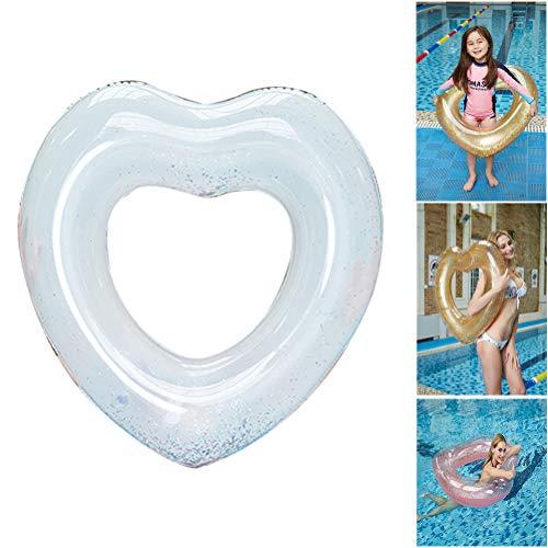 Naduew Engrosamiento Amor corazón Nadar Anillo, PVC Inflable Nadar Anillo Verano Agua diversión Playa Piscina Fiesta Juguetes para niños Adultos