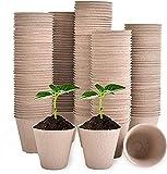Maceta Ecológica, Biodegradables para Plantas,Seguro y Transpirable Puede Crear un Entorno Ecológico Favorable para Las Plántulas(100 Pcs)