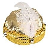 NET TOYS Turban Scintillant pour Adulte   Chapeau Taille 59 en Or   Accessoire Brillant...