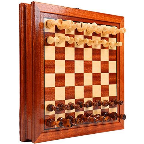 Wenhe Deluxe Ajedrez y mujer, juego de mesa de ajedrez, juego de mesa para regalo para familia, viajes, niños y adultos