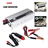 Eaglerich Portable Car Charger 1500W WATT DC 12V to AC 110V 60 Hz Car Power Inverter Converter Transformer Power Supply
