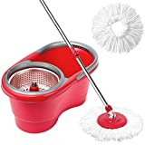 CleanWise ® Spin Mop & Bucket System, Detachable Spinning Basket & Easy Wring