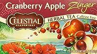 Celestial Seasonings - クランベリーのApple Zingerのハーブ茶カフェインは放す - 1ティーバッグ