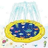 Vatos プレイマット ウォーター 噴水マット プール 子供 夏の水遊び 親子遊び 芝生遊び 庭 アウトドア ビニール プール 暑さ対策 子供 プレゼント 噴水おもちゃ 家庭用 150CM