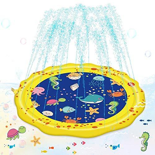 Vatos プレイマット ウォーター 噴水マット プール 子供 夏の水遊び 親子遊び 芝生遊び 庭 アウトドア ビニ...