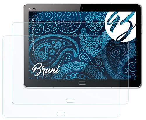 Bruni Schutzfolie kompatibel mit Huawei MediaPad M3 Lite 10 Folie, glasklare Bildschirmschutzfolie (2X)