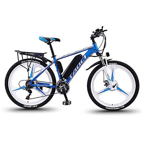 QYL Bicicletas eléctricas para los Adultos, en Bicicletas de aleación de magnesio Ebikes de Tierra, 26' batería extraíble 350W 36V 13Ah Litio-Ion Ebike Montaña Hombres