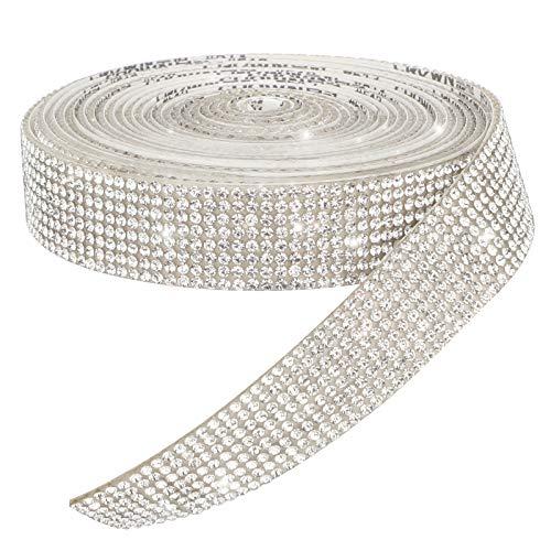 AIEX Cinta de Cristal Brillante Pegatinas de Diamantes de Imitación Brillantes para...