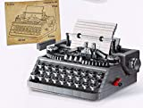 Haoun Classic Manual Typewriter Building Blocks Set, 1618Pcs Vintage Mechanical Typewriter Building Kit MOC Bricks Collectible Model DIY Stem Toy Educational Toys for Kids Adults