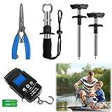 AIRKOUL 5pcs Fishing Tool Kit, Includes Fishing Pliers, Fish Hook...