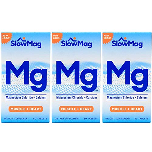 Slow Mag Magnesium Chloride and Calcium, 60 Tablets each (Value Pack of 3)