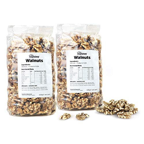 Rollasnax California Walnut Halves - 1kg