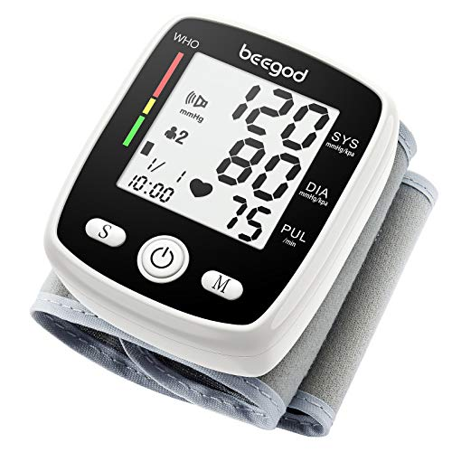 Blood Pressure Monitor,BP Monitor Irregular Heart Beat Detection CuffAutomatic with Large Display Screen Support Charging Supply for Home Use