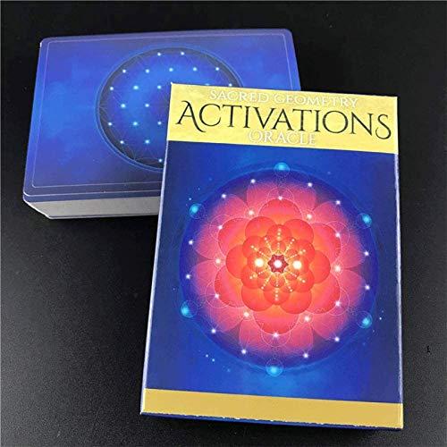LHJY Heilige Geometrie-Aktivierungen Oracle-Karten, Deck-Tischspiele, Lustige Brett-Tarot-Kartenspiele Für Familien Party Dropship (2Box)