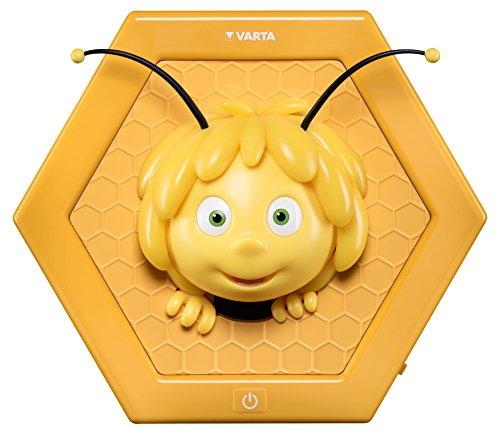 Varta die Biene Maja LED Wandlicht, 3AA (geeignet für Schlafzimmer Kinderzimmer mit Touch Sensor und Auto Abschaltfunktion)