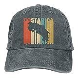 Bokueay Estilo Retro Costa Rica Silueta Deportes Gorra de Mezclilla Ajustable Snapback Unisex Llanura Sombrero de Vaquero de béisbol Estilo clásico