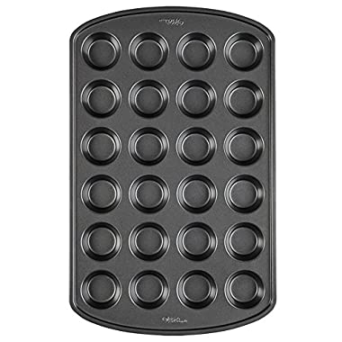 Wilton Perfect Results Non-Stick Mini Muffin and Cupcake Pan, 24-Cup