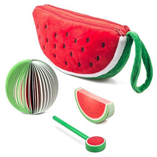 Wassermelone Bleistift Fall Fruit Post-it Notes Notizbücher Tintenroller Set of 3 wassermelone