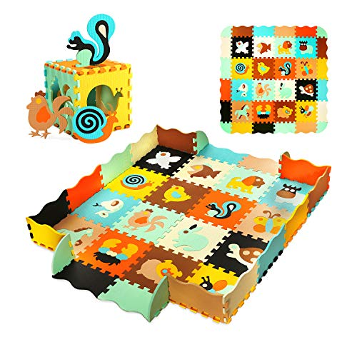 56' X 56' Baby Play Mat Floor Mat Foam Puzzle Playmat Interlocking Floor Tiles Crawling Mat for Kids, Toddlers and Infants