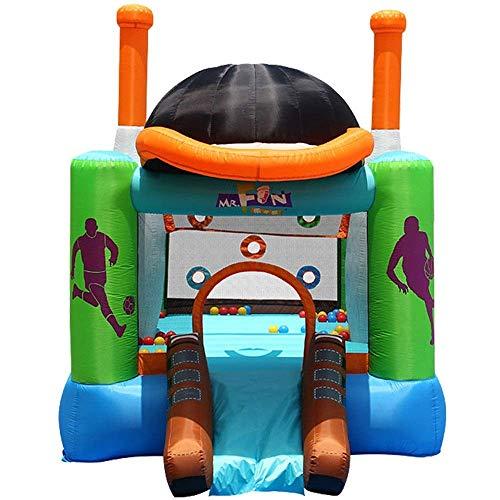 SSeir Kids Bouncy Castle Castillo Inflable Castillo Pequeño Al Aire Libre Al Aire Libre Casa de Bounce Inflable Bounce House (Color: Multicolor, Tamaño: 427x246x283cm)