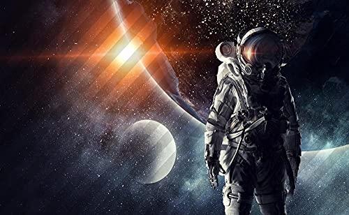 ZHAOMU Kit De Pintura De Diamantes 5D, Kit De Arte De Diamantes Con Herramientas, Kit De Cristal Para Regalos Para Adultos Y Niños-Póster De La Serie Astronauta- (40 * 60 Cm)