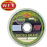 WFT Micro Braid KG Chartreuse 150m - Geflochtene Angelschnur zum Spinnfischen, Geflechtschnur zum Spinnangeln, Multifile Schnur, Durchmesser/Tragkraft:0.08mm / 4.5kg