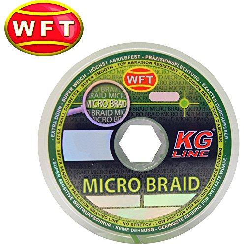 WFT Micro Braid KG Chartreuse 150m - Geflochtene Angelschnur zum Spinnfischen, Geflechtschnur zum Spinnangeln, Multifile Schnur, Durchmesser/Tragkraft:0.04mm / 3kg
