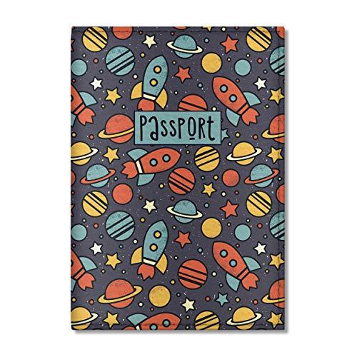 Quttie, Kids Vegan Eco Leather Passport Cover, Passport Holder (Dark Space)
