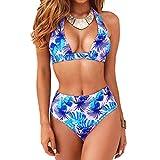 DURINM Traje De Baño Mujer Sexy Bañador de Baño Conjunto de Bikini Push up Sujetador Acolchado Bikini para Mujeres Estampado Acolchado Baño Ropa de Playa