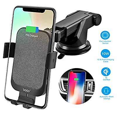 Wireless Car Charger Mount 15W Qi Fast Charging...