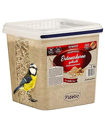 Fidelio Wildvogelfutter, gehackte Erndusskerne, 3 kg