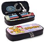 Étui à crayons en cuir imperméable durable de grande capacité Garfield avec pochette à...