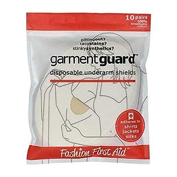 Garment Guard  The Original Disposable Adhesive COTTON Underarm Sweat Pads Unisex to Prevent Armpit Stain  10 pairs Beige