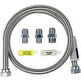 Certified Appliance Accessories CERT77300 Universal Gas Line Connector Kit, 4 Feet