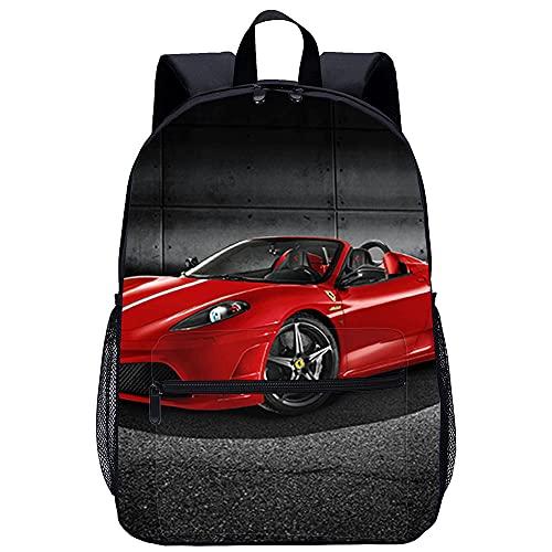 ZFWEI Mochila para la vida diaria Ferrari rojo Mochila de viaje, 20L impermeable mochila de senderismo mochila de trekking mochila para portátil hombres mujeres mochila al aire libre para