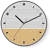 Orologi da parete non ticking Orologio Orologio al quarzo Arte e artigianato numerico Semplice moderno minimalista Arte semplice Personalità Moda Camera da letto Famiglia (colore: linee parallele)