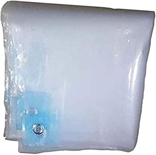 Tarpaulin Waterproof Heavy Duty Family Dust-proof Transparent Courtyard Rainproof Cloth Metal Buckle Polyethylene, 19 Size...