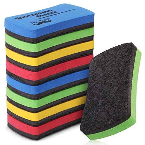 Mr. Pen- White Board Erasers, Magnetic Dry Erase Erasers, 8 Pack, Assorted, Dry Erase Board Erasers, Magnetic Whiteboard Eraser, Dry Erasers for White Board, Whiteboard Erasers for Kids Classroom
