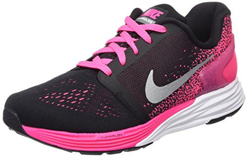 Nike Nike Lunarglide 7 (Gs), Mädchen Laufschuhe, Mehrfarbig - Negro/Plateado/Blanco/Rosa (Black/Mtllc Slvr-White-Pnk Pw) - Größe: 36 1/2