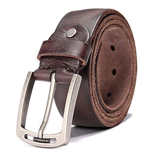 Cintura Uomo per Jeans Abbigliamento Casual Wear (125 CM(40''- 50''), Type 1b)