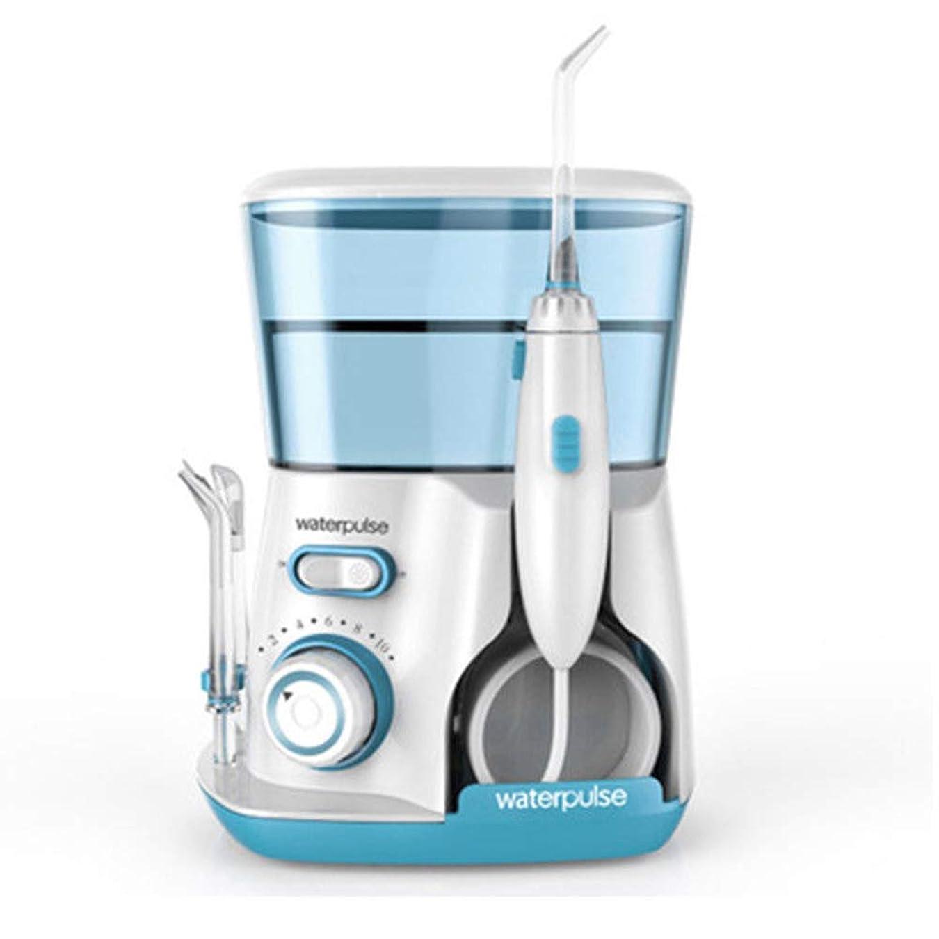 いつリンス段落水の容量800mlの5つの多機能ヒントのカウンタートップ歯科口腔洗浄器でリークプルーフ電気静かな設計ホーム&トラベル (色 : Green)
