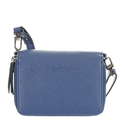 Boscha Damen Geldbörse blau 13 x 9 x 4 cm