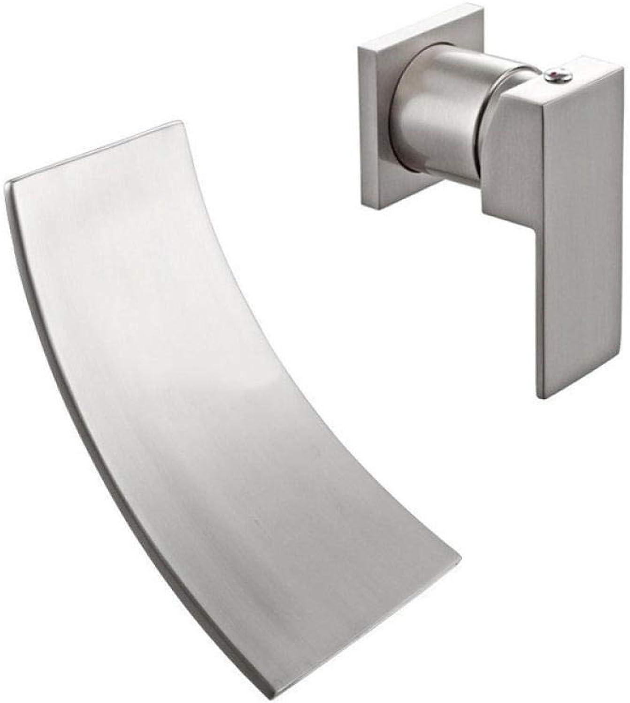 Waschtischarmatur_Cold und kaltes Wasserfallbecken in den Wandbeckenhahn zeichnen Wasserhahn Waschbecken für Badezimmer Einhandmischer Waschtischarmaturen Keramikventil