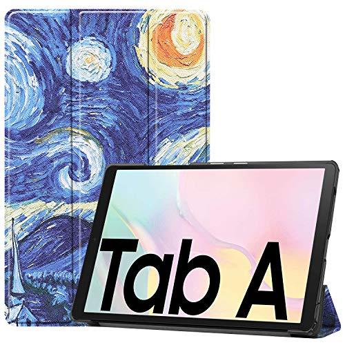 HoYiXi Custodia per Samsung Galaxy Tab A7 10.4 Pollici 2020 Ultra Sottile Case in pelle Cover con Supporto Funzione Custodia di Tablet per Samsung Galaxy Tab A7 2020 T500/T505 - notte stellata