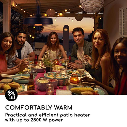 blumfeldt Camden Heat • Infrarot-Heizstrahler • Terrassenheizstrahler • 2500 W • IR ComfortHeat • IP24 • Infrarot-Wärme • Carbon-Heizelement • Easy Control • inkl. Kette und 4 x Kabelbinder • schwarz - 8
