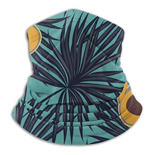 Bandana Kopfbedeckung Schal zum Laufen Radfahren Angeln Sport Indoor Outdoor Modische Kleidung, Avocado Blätter