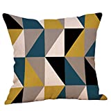 KItipeng Housses de Coussin,Taies d'oreiller,Colorblock Bohême Géométrique Canapé Décoratif Scandinave Chambre Taie d'oreiller Sofa Throw Pillow Case Cushion Cover Décor de Maison,45x45CM