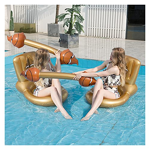 Piscina Inflable Flotadores de Verano Nadar Mattrss Silla de Fila Flotante Salón para Deportes acuáticos Juego Juego Playa Jugando Tallarines Inflable Camping (Color : Golden and Golden)