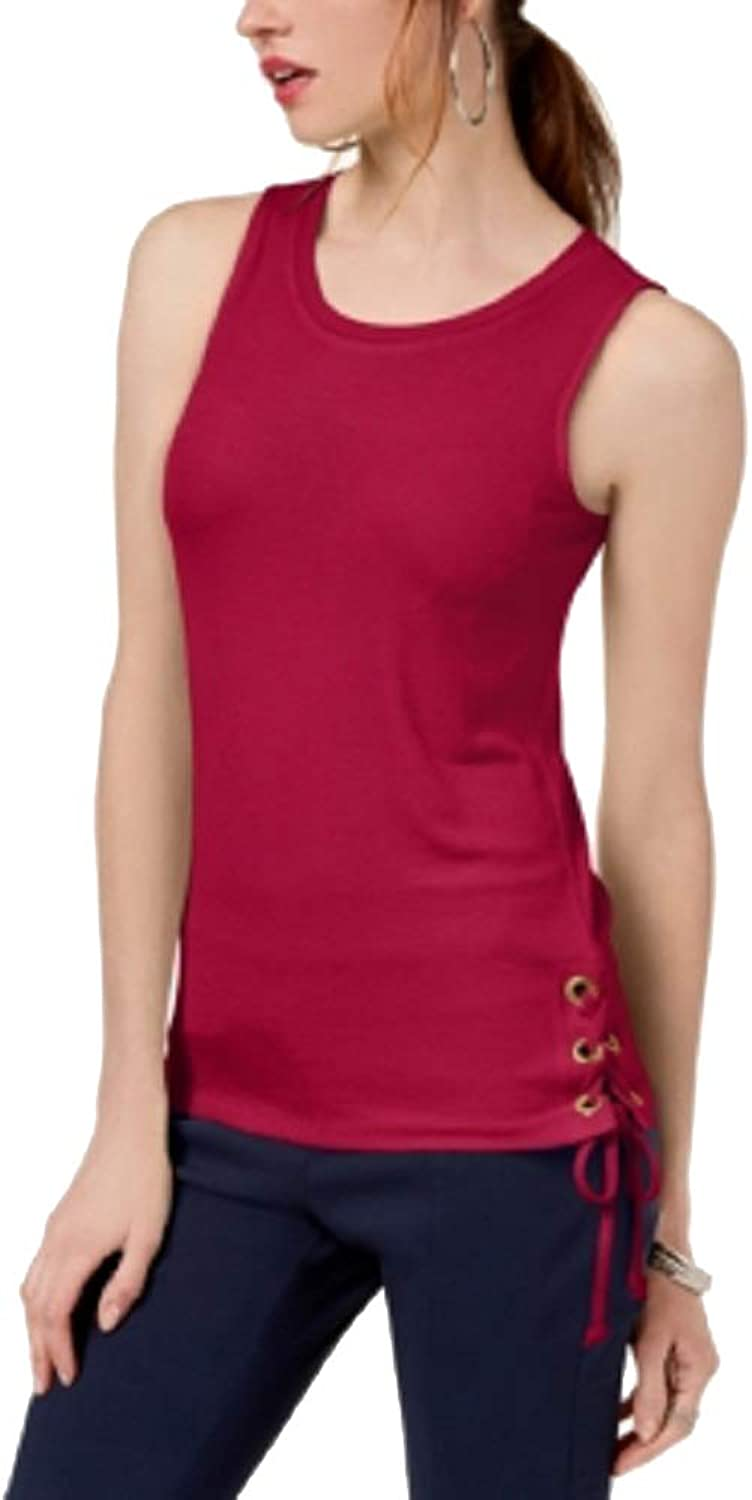 I.N.C. International Concepts Women's Petite LaceUp Tank Top